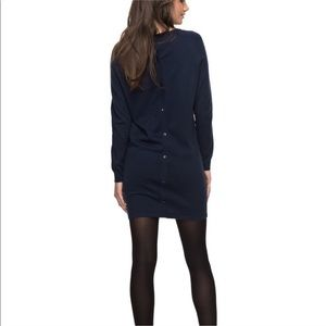 Roxy winter story navy midi dress with buttons